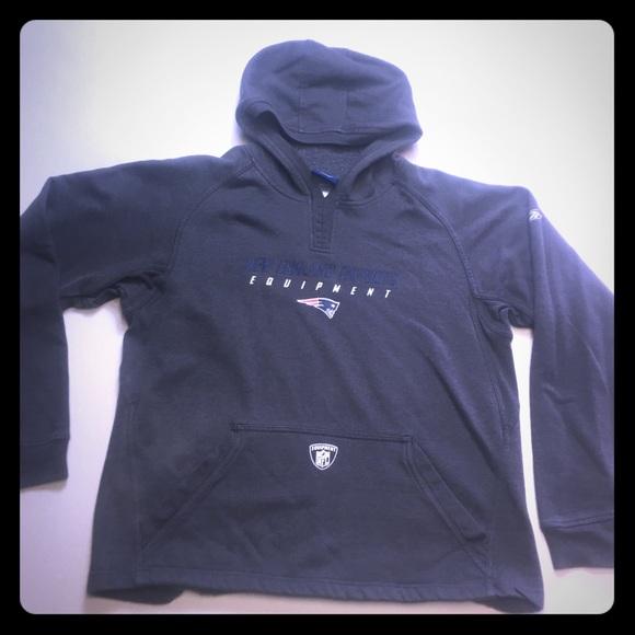 Wholesale Reebok Tops | New England Patriots Gray Pullover Hoodie | Poshmark
